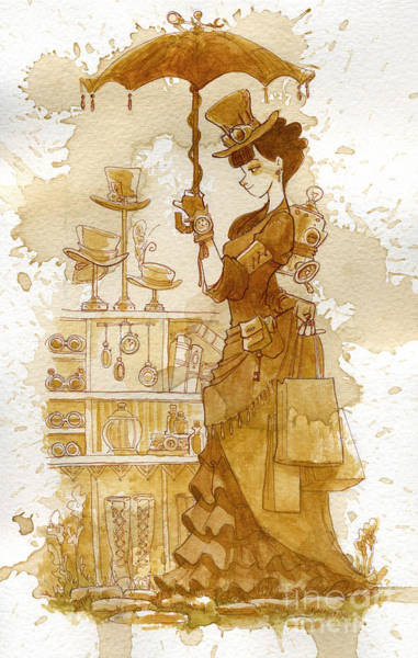 Woman Painting - Couture by Brian Kesinger