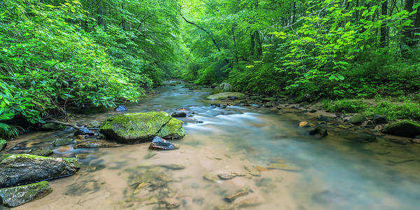 Art Print featuring the photograph Cove Creek Panorama by Ranjay Mitra