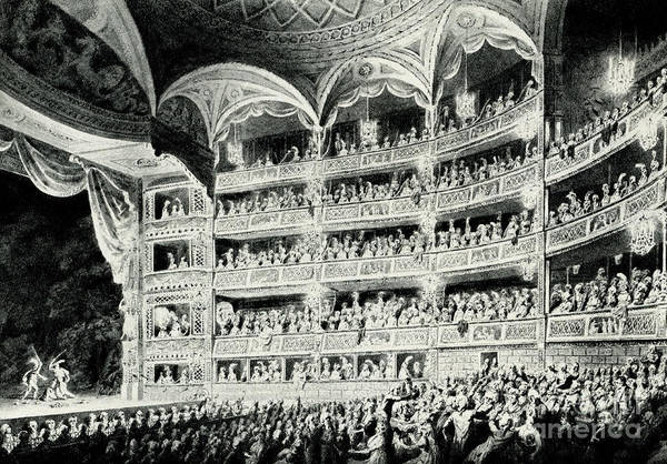 Wall Art - Drawing - Covent Garden Theatre, 1795 by Edward Dayes