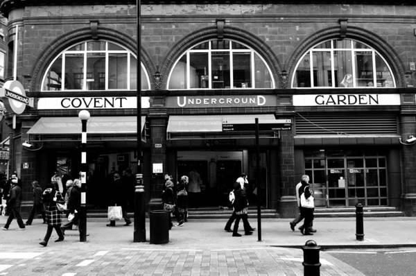 Wall Art - Photograph - Covent Garden Underground Station  by Liz Pinchen