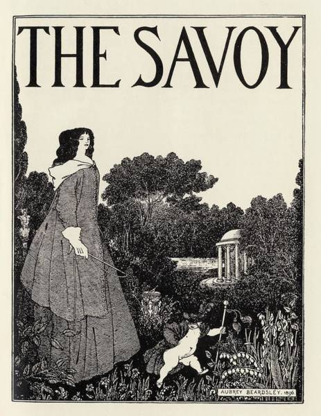 Beardsley Drawing - Cover Design Of The Savoy Volume 1 By by Vintage Design Pics