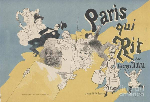 Ch Painting - Cover For The Book Paris Qui Rit by Celestial Images