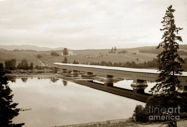 Photograph - Very Long Covered Bridge Over A River by California Views Archives Mr Pat Hathaway Archives