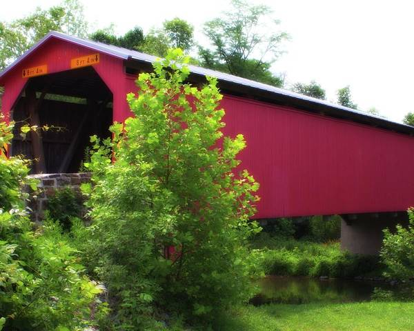 Photograph - Covered Bridge 1 by John Feiser