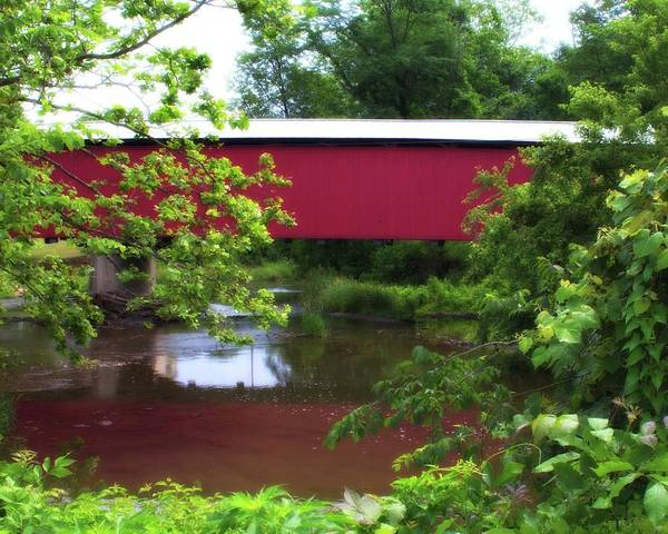 Photograph - Covered Bridge 3 by John Feiser
