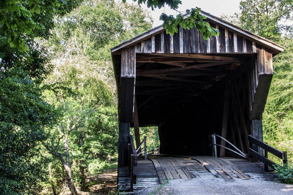 Photograph - Covered Bridge At Red Oak Creek by Randy Bayne