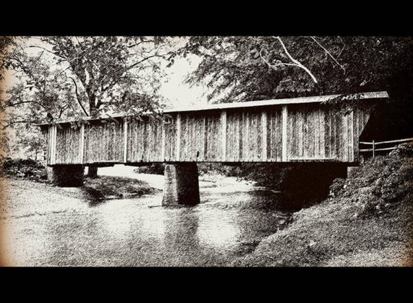 Walnut Mixed Media - Covered Bridge by Eric Liller