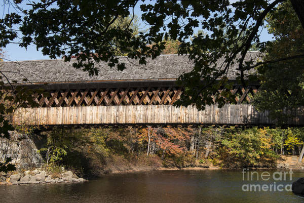 Henniker Wall Art - Photograph - Covered Bridge Over The Contoocook River by Bob Phillips