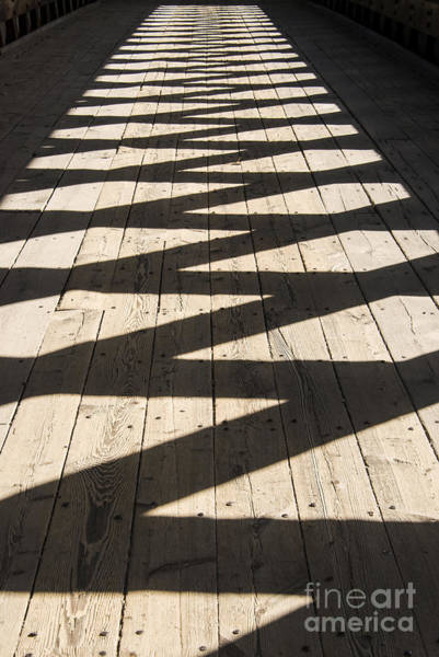 Henniker Photograph - Covered Bridge Shadows by Bob Phillips