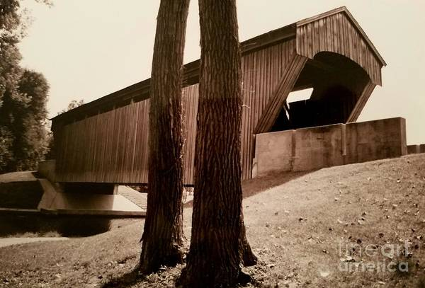 Millrace Wall Art - Photograph - Covered Bridge Southern Indiana by Scott D Van Osdol
