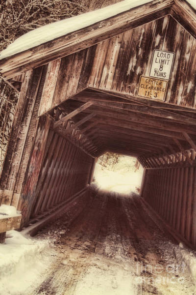 Covered Bridge Painting - Covered Bridge Vermont by Mindy Sommers