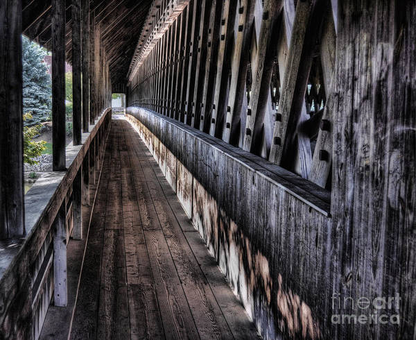 Frankenmuth Photograph - Covered Bridge Walkway by Chris Fleming