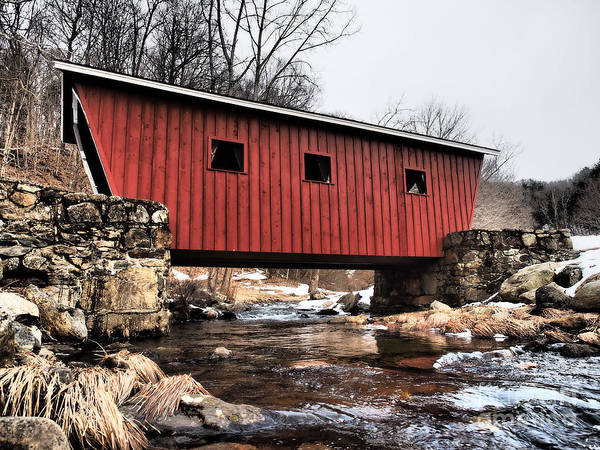 Wall Art - Photograph - Covered Foot Bridge by Frank Piercy