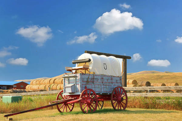 Photograph - Covered Wagon - Bar U Ranch Alberta Canada by Ola Allen