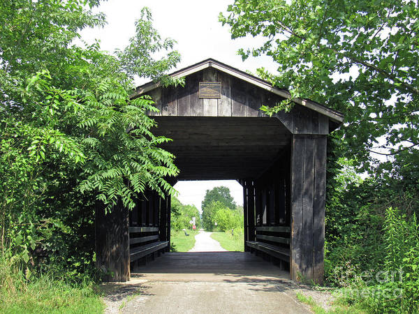 Photograph - Covered Walking Bridge by Roberta Byram