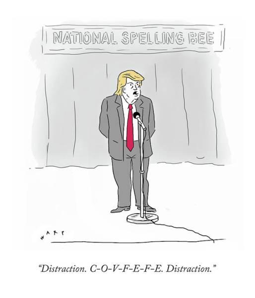 Politics Drawing - Covfefe by Kim Warp