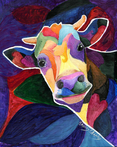 Painting - Wow Cow by Sherry Shipley