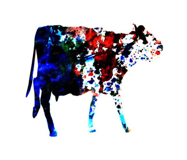 Dairy Barn Digital Art - Cow Paint Splatter by Brian Reaves