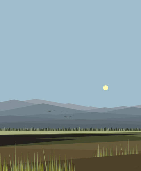 Wall Art - Digital Art - Cow Pass And Blue Sky by Val Arie