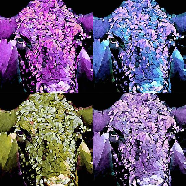 Mixed Media - Cow Pop by Susan Maxwell Schmidt