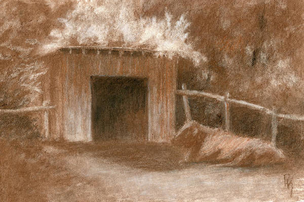 Drawing - Cow Shed by David King