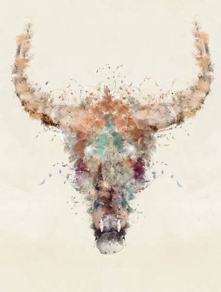 Wall Art - Painting - Cow Skull by Bri Buckley