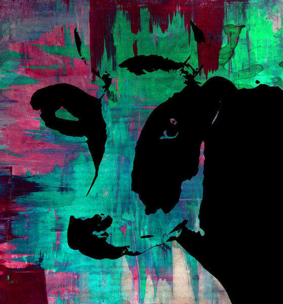 Breeding Painting - Cow Sunset Rainbow - Poster Print by Robert R Splashy Art Abstract Paintings