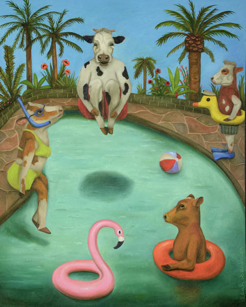 Wall Art - Painting - Cowabunga by Leah Saulnier The Painting Maniac