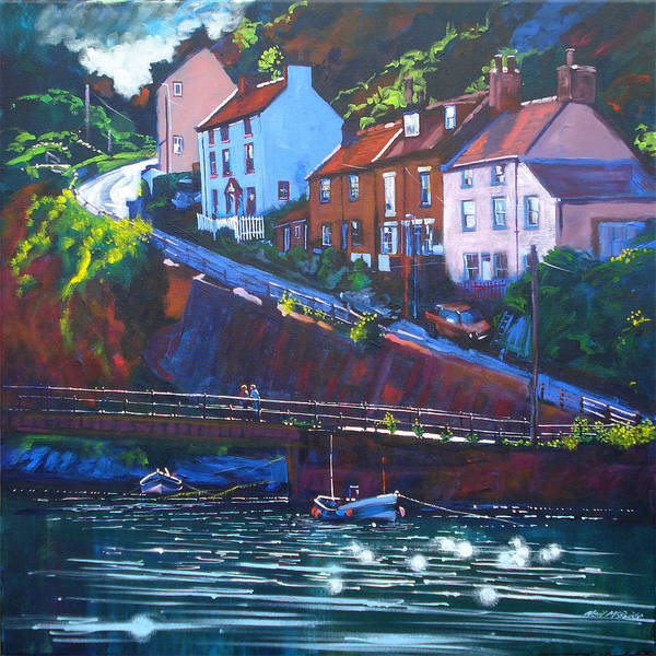 Wall Art - Painting - Cowbar - Staithes by Neil McBride