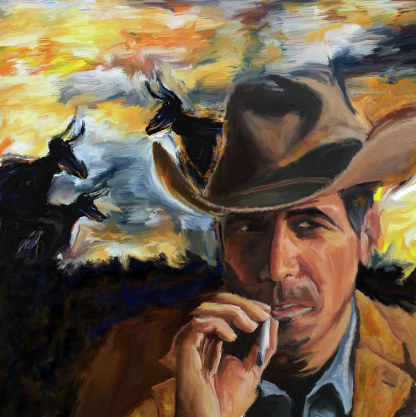 Ashes Painting - Cowboy 250 1  by Mawra Tahreem