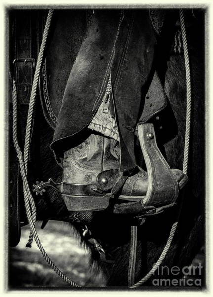 Westcliffe Photograph - Cowboy Boots And Spurs by Donald Savage