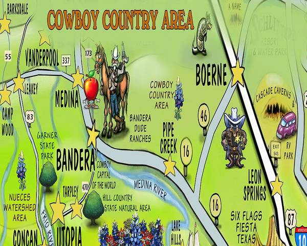 Digital Art - Cowboy Country Area by Kevin Middleton