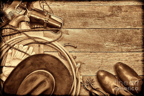 Photograph - Cowboy Gear by American West Legend By Olivier Le Queinec