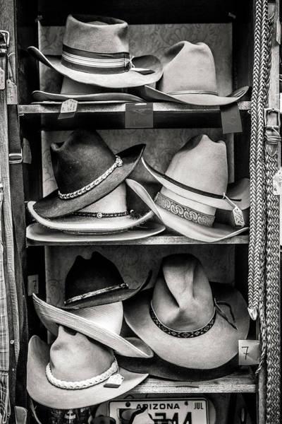 Wall Art - Photograph - Cowboy Hat Display by Marilyn Hunt
