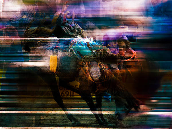 Roping Painting - Cowboy by Mark Courage