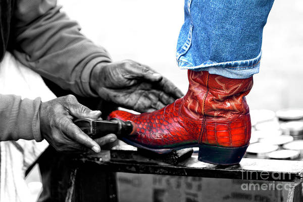 Photograph - Cowboy Needs A Shoeshine In New Orleans by John Rizzuto