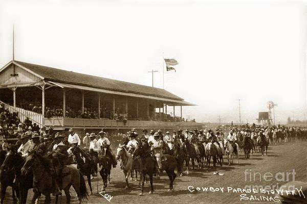 Photograph - Cowboy Parade Big Week, Salinas, Calif. Circa 1915 by California Views Archives Mr Pat Hathaway Archives
