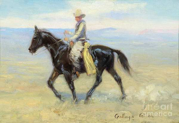 Painting - Cowboy Riding The Range by Celestial Images