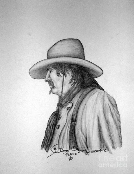 Drawing - Cowboy by Santiago Chavez