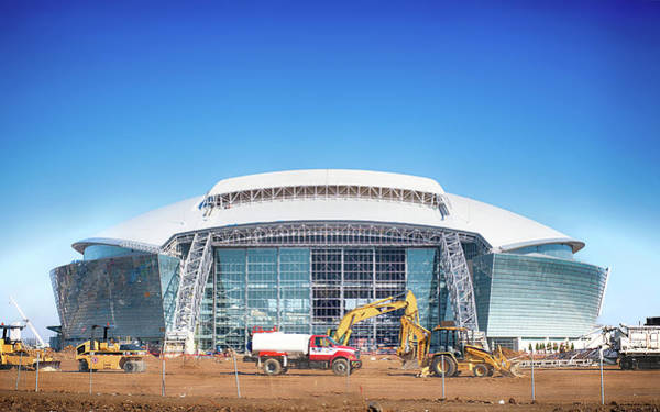 Photograph - Cowboy Stadium Construction by Rospotte Photography