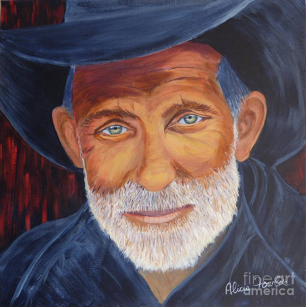 Painting - Cowboy Tex by Alicia Fowler