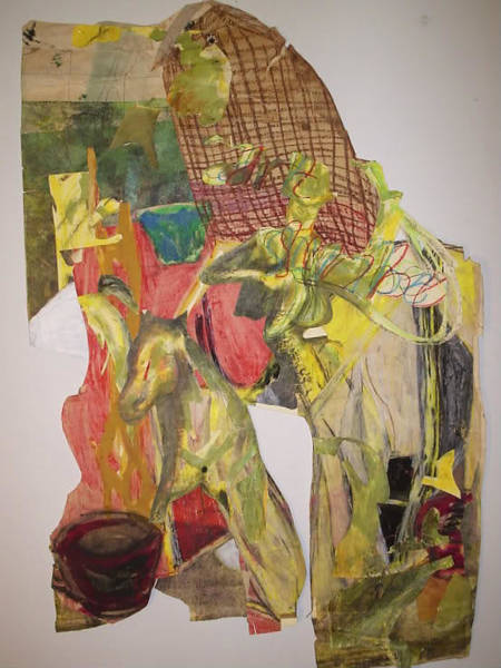 Organic Abstraction Drawing - Cowboy by William Douglas