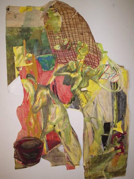 Organic Form Drawing - Cowboy by William Douglas