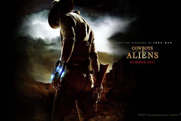 Space Mixed Media - Cowboys And Aliens  by Movie Poster Prints