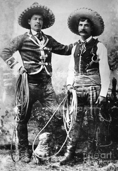 Turn Of The Century Wall Art - Photograph - Cowboys, C1900 by Granger