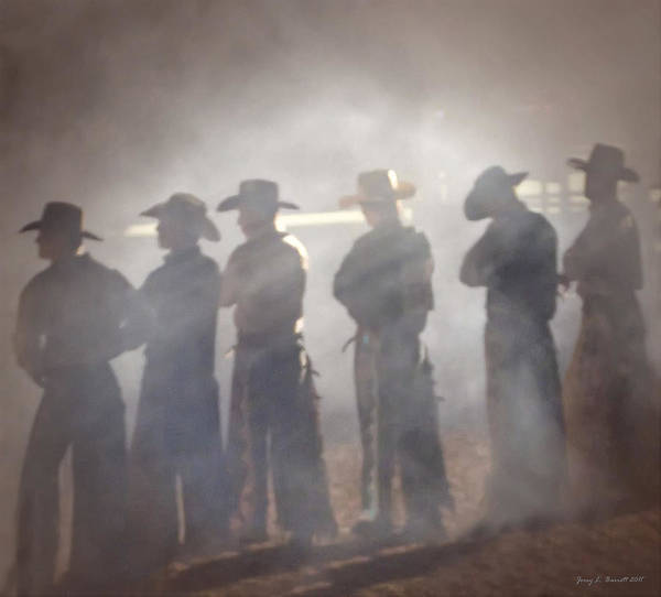 Mixed Media - Cowboys by Jerry L Barrett