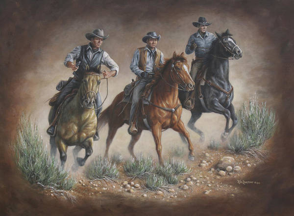 Painting - Cowboys by Kim Lockman
