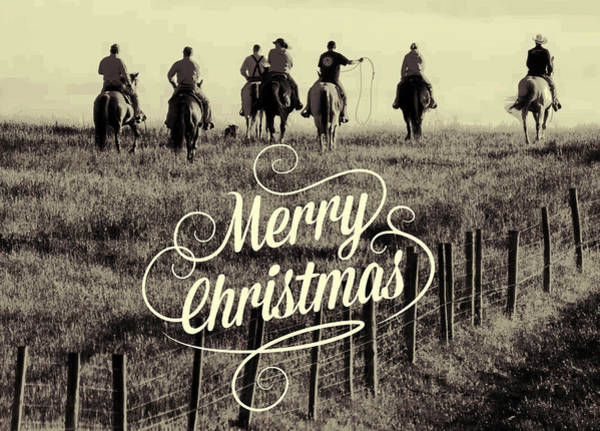 Photograph - Cowboys Merry Christmas by Alice Gipson