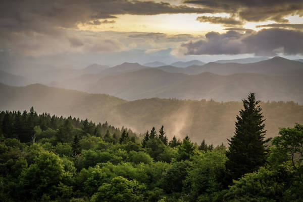 Asheville Wall Art - Photograph - Cowee Mountains Sunset 2 by Serge Skiba