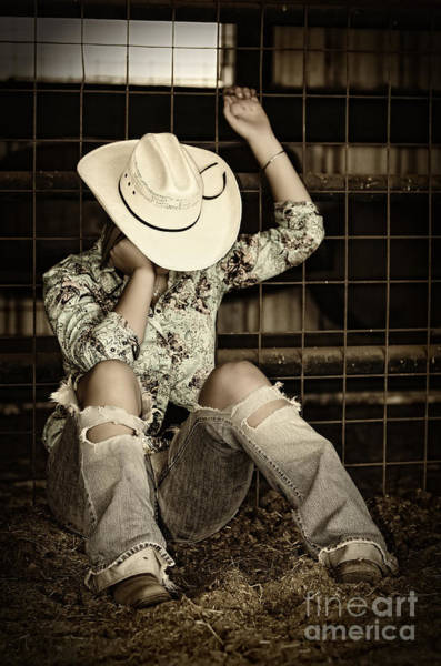 Wall Art - Photograph - Cowgirl At The Barn by Andre Babiak